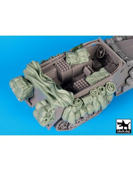 M 4 Mortar carrier accessories set 2, T35125, BLACK DOG, 1:35