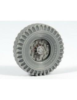 Chevrolet LRDG Road wheels (Firestone 2), RE35-356, PANZER ART, 1:35