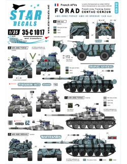 Star Decals 35-C1017, Decals for FORAD training centre. AMX-30 B2&OTHERS, 1:35