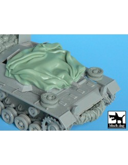 Canvas for Stug III CD,T35010, BLACK DOG, 1:35