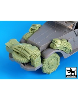 Resin accessories for US M2 - set 2, T35036, BLACK DOG, 1:35