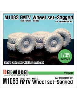 DEF.MODEL,US M1083 FMTV Truck Mich.XL Sagged Wheel set (for Trumpeter), DW35040