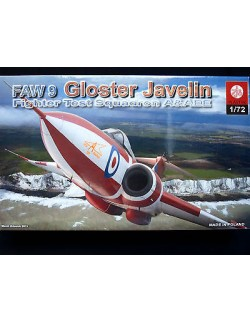 GLOSTER JAVELIN FAW.9  BRITISH INTERCEPTOR FIGTHER, ZTS PLASTYK, SCALE 1/72