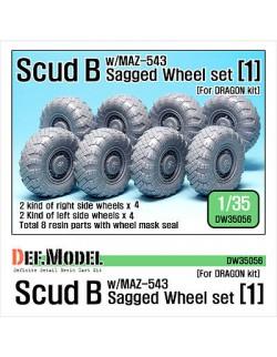 DEF.MODEL,Scud B w/MAZ-543 Sagged Wheel set 1 (Dragon/Trumpeter/Meng), DW35056