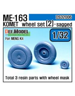 DEF.MODEL, Me163 Komet Wheel set 2 (for Meng 1/32), DS32006,1:32