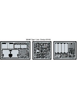 PE parts for Tiger I late (TAMIYA), 1/35, Eduard 35441