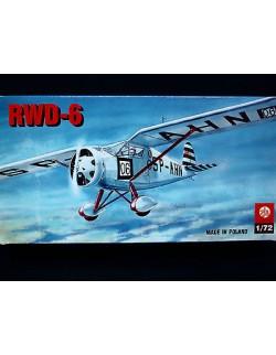 RWD-6 POLISH LIGHT SPORTS AEROPLANE, ZTS PLASTYK, SCALE 1/72