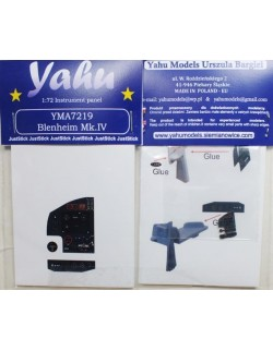 YAHU MODELS 1:72, PE instrument panels Blenheim Mk.IV for MPM, YMA7219