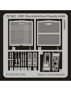 PE parts for CMP Chevrolet/ Ford Canada Grill (ITALERI),1/35, Eduard, TP037