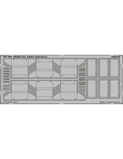 PE parts for Sd. Kfz.251 Ausf. C tool boxes (AFV CLUB),1/35, Eduard, TP100