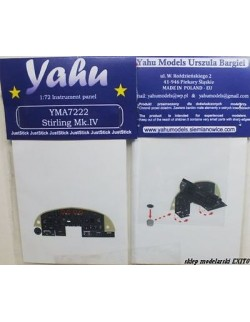 YAHU MODELS 1:72, PE instrument panels Stirling Mk.IV for Italeri, YMA7222