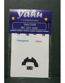 YAHU MODELS 1:72, PE instrument panels MC.202 early for Hasegawa/Italeri,YMA7239