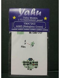 YAHU MODELS 1:72,PE instrument panels A6M5 Nakajima Green for Tamyia, YMA7263