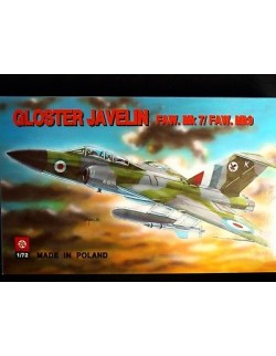 GLOSTER JAVELIN FAW.MK 7/FAW.MK9, BRITISH SUPERSONIC FIGHTER, 1/72, ZTS PLASTYK