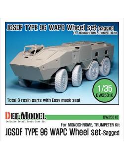 DEF.MODEL, JGSDF Type 96 WAPC Sagged Wheel set(TRUMPETER KIT), DW35016, SCALE 1/35