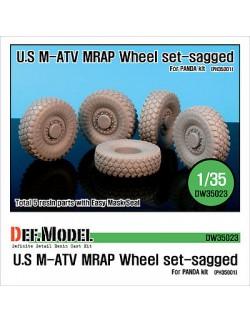 DEF.MODEL, US M-ATV Sagged wheel set (for Panda 1/35), DW35023, SCALE 1/35