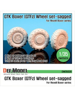 DEF.MODEL,German GTK Boxer (GTFz) Sagged Wheel set (for Revell 1/35), DW35028, SCALE 1/35
