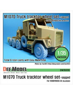 DEF.MODEL,US M1070 Truck Tractor Sagged wheel set (for Hobbyboss 1/35), DW35030, SCALE 1/35