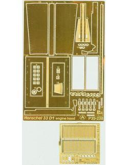 PE Parts - Engine Hood for Henschel 33D1, 1/35 - P35238, PART