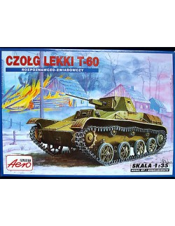 T- 60  LIGHT TANK (LIMITED EDITION-PE PARTS INCLUDED), AEROPLAST, SCALE 1/35