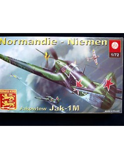JAKOWLEW JAK – 1M RUSSIAN WW II FIGHTER, ZTS PLASTYK, SCALE 1/72