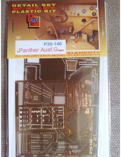Photoetched metal parts for Panther Ausf.G - P35140, PART