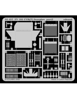 PE parts for FV 101 CVR (T) Scorpion (AFV CLUB), 1/35, Eduard 35457
