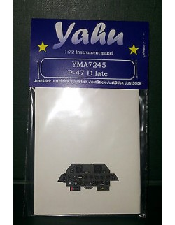 YAHU MODELS 1:72, PE instrument panels P-47 D late for Tamyia, YMA7245