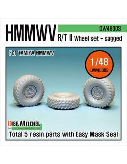 DEF.MODEL, HMMWV RT/II Wheel set (for Tamiya 1/48), DW48003, SCALE 1/48
