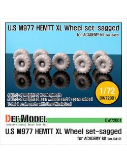 """DEF.MODEL, M977 HEMTT Michelin """"XL"""" Sagged Wheel set (for ACADEMY 1/72), DW72001, SCALE 1/72"""