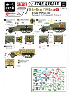 Star Decals 35-875, German Beute Halftracks in Africa (Tunisia)