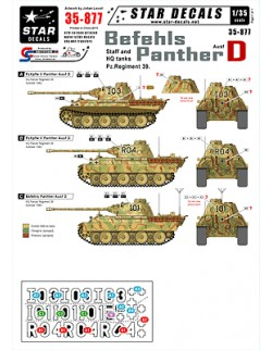 Star Decals 35-877, Decals for Befehls Panther Ausf D. Staff and HQ tanks, 1:35