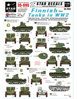 Star Decals 35-895, Decals for Finnish Tanks in WW2 3:T-26A 2turret,T-26 m/1939