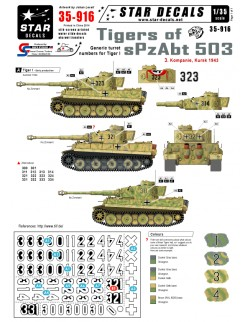 Star Decals 35-916, Decals for Tigers of  sPzAbt 503 3.