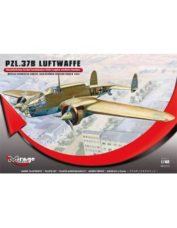 PZL – 37 B LUFTWAFFE – TWIN ENGINE MEDIUM BOMBER, MIRAGE HOBBY, SCALE 1/48