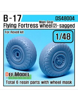 DEF.MODEL, B-17 Flying Fortress Wheel set 2 (for Revell 1/48), DS48004, SCALE 1/48