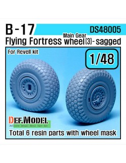 DEF.MODEL, B-17 Flying Fortress Wheel set 3 (for Revell 1/48), DS48005, SCALE 1/48