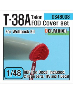 DEF.MODEL, T-38A Talon FOD Cover set (for Wolfpack 1/48), DS48008, SCALE 1/48