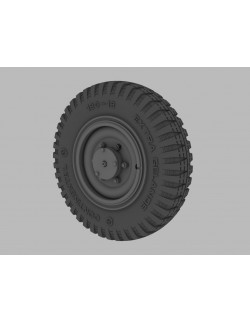 PANZER ART, RE34-382 FIVE ROAD WHEELS For GERMAN Sd Kfz 221 & 222 LATE