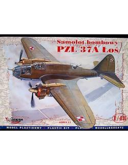 PZL 37A ŁOŚ, BOMBER AIRCRAFT, MIRAGE HOBBY, SCALE 1/48