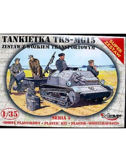 GERMAN TKS – MG 15 TANKETTE WITH TRAILER, MIRAGE HOBBY 355015, SCALE 1/35