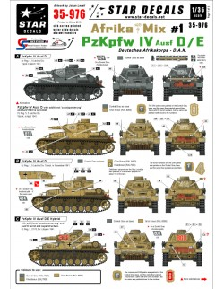 Star Decals 35-976, Decals for German Afrika Mix  1. PzKpfw IV Ausf D,D/E&E