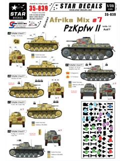 Star Decals 35-839, Decal - German Afrika Mix  7, 1:35