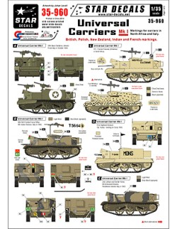 Star Decals 35-960, Decals for Universal Carriers Mk I.,1:35