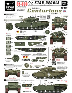 Star Decals 35-899, Decals for 8th K.R.I.H. Centurions in Korea. Centurion Mk 3