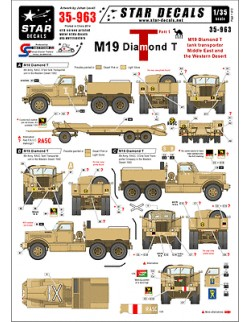 Star Decals, 35-963, Decal for M19 Diamond Tank transporter1, 1:35