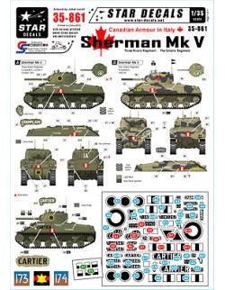 Star Decals 35-861, Decals for Canadian Armour in Italy, 1:35