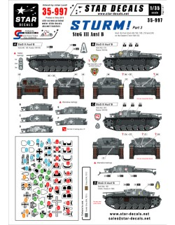 Star Decals, 35-997 STURM! 3. StuG III Ausf B Early StuG IIIs ,1:35