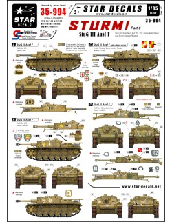 Star Decals  35-994 STURM! 5. StuG III Ausf F Long barreled StuG IIIs ,1:35