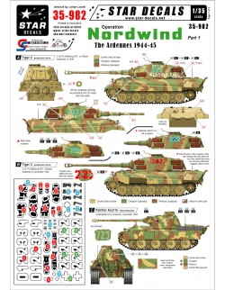 Star Decals, 35-982 Operation Nordwind 1 German Tanks in the Ardennes ,1:35
